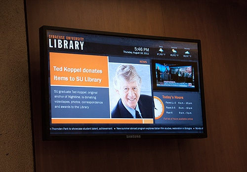 Modern students prefer to get their information digitally - digital signage  makes sense in educational facilities.
